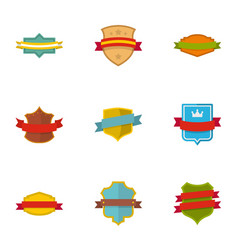 Banner icons set flat style vector