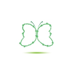 butterfly green vector image