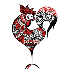 Chinese New Year rooster design vector image