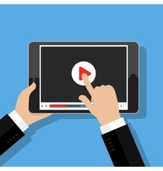 Concept of streaming vector image