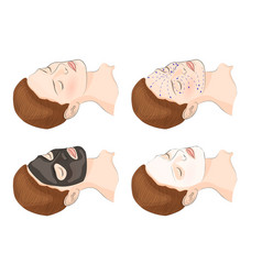 Cosmetic facial mask vector