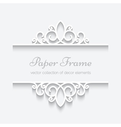 Cutout paper frame vector image