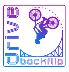 Cyclist on a springboard vector
