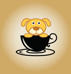 Dog logo coffee vector