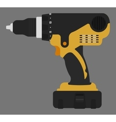 Electric drill color vector