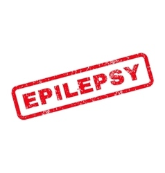 Epilepsy text rubber stamp vector