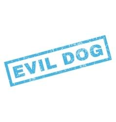 Evil dog rubber stamp vector