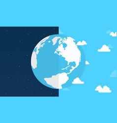 Flat earth day style vector