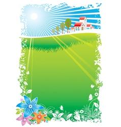 Green Village vector image