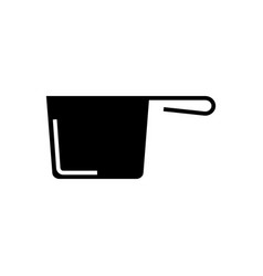 ladle icon black sign on vector image