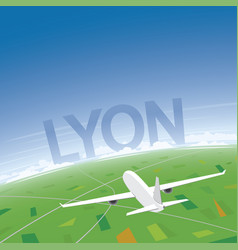 Lyon flight destination vector