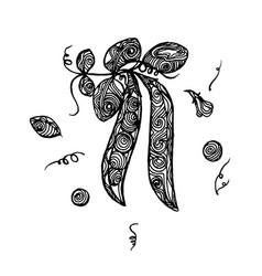 peas sketch vector image vector image