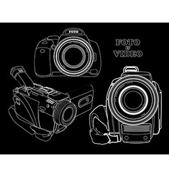 photo and video cameras vector image