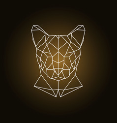 puma head portrait polygonal style vector image