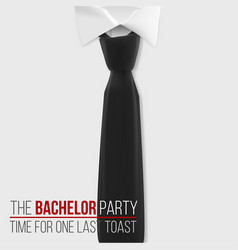 realistic white shirt the bachelor party vector image