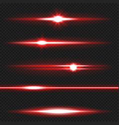 red laser beams pack vector image vector image