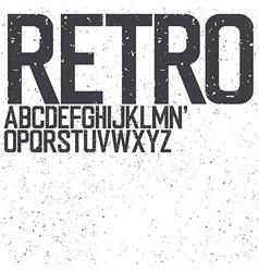 retro uppercase font vector image vector image
