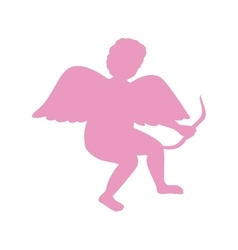 Silhouette Of Cupid Saint Valentine vector image