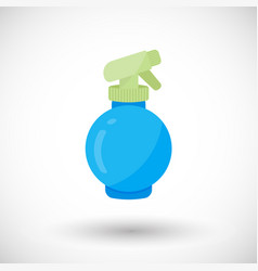 spray bottle flat icon vector image vector image