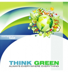 thinkgreen vector image