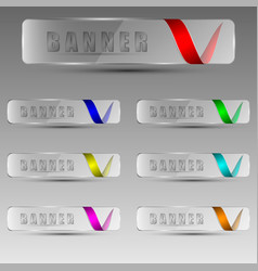 transparent banners with ribbons vector image vector image