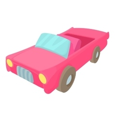 Red car icon cartoon style vector image