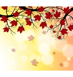 A stationery with falling leaves vector