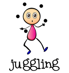 A stickman juggling vector