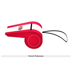 A red and white whistle of french polynesia vector