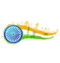 India background with monument vector