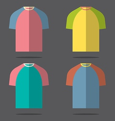 Flat design t-shirt set vector