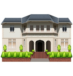An old mansion vector