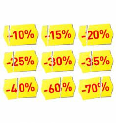 Set of discount stickers vector