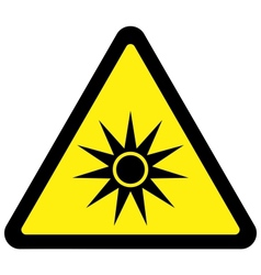 Optical radiation warning sign vector