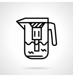 Water filtration pitcher line icon vector