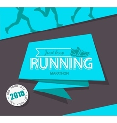 Running marathon and jogging emblem vector