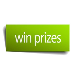 Win prizes square paper sign isolated on white vector