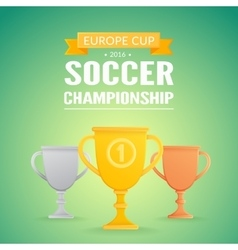 Trophy cups background vector image
