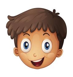 A face of a boy vector