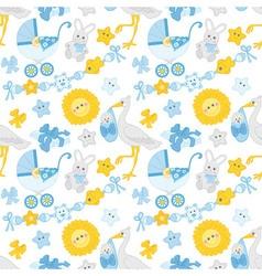 Baby boy seamless pattern vector