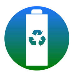 battery recycle sign white vector image vector image