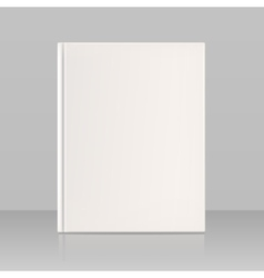 Blank vertical book cover look full face vector image vector image