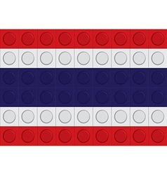 block thailand flag pattern vector image