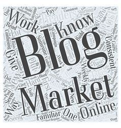 Blog Marketing Online What You Should Know Word vector image