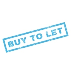 Buy to let rubber stamp vector