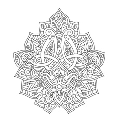 Ethnic line pattern vector image vector image