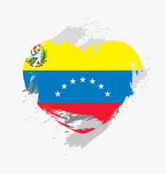 Flag of venezuela isolated on grunge heart vector