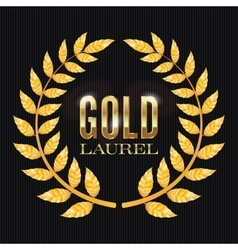 Gold Laurel Shine Wreath Award Design vector image vector image
