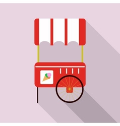 Ice cream cart isolated in pink vector