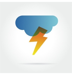 Lightning icon with cloud concept for design vector